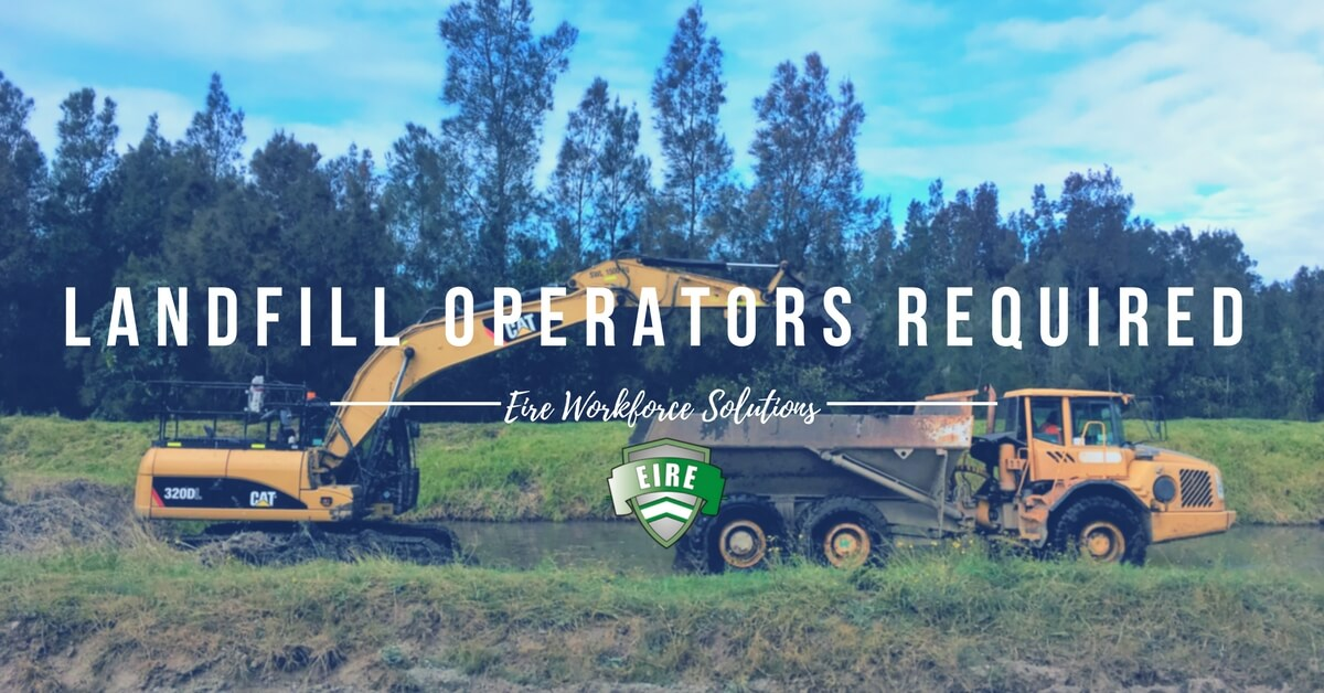 Landfill Multi Machine Operators Required – Lucas Heights, NSW