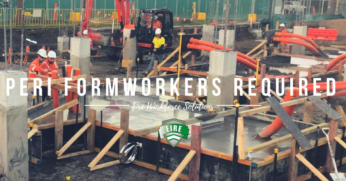 PERI Formworkers & Formwork Labourers – Penrith, NSW